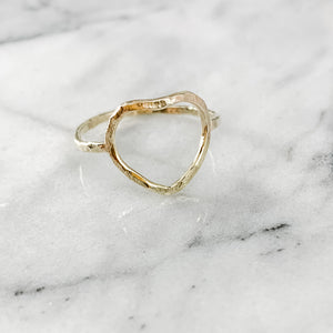 Geometric Heart Ring (100% of Profits Donated to Mission St Louis)