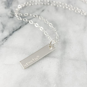 Name, Mantra, Initial Necklace