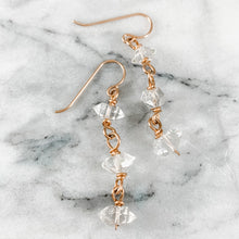 Load image into Gallery viewer, Herkimer Diamond Graduated Dangle Earrings