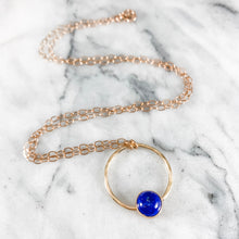 Load image into Gallery viewer, Circle and Gemstone Necklace