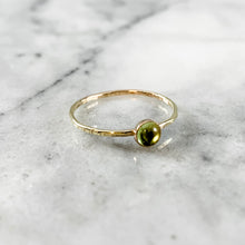 Load image into Gallery viewer, Peridot Gemstone Ring