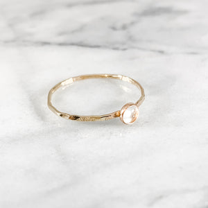 Quartz Gemstone Ring