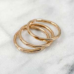 Thick 14k Rose Gold Filled Stacking Ring Set  3+ RINGS