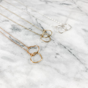Heart Double Link Necklace (Profits donated to Mission: St Louis)