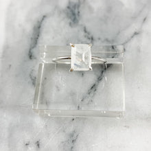 Load image into Gallery viewer, Emerald Cut Moonstone Ring