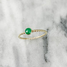 Load image into Gallery viewer, Rope Band Birthstone Ring
