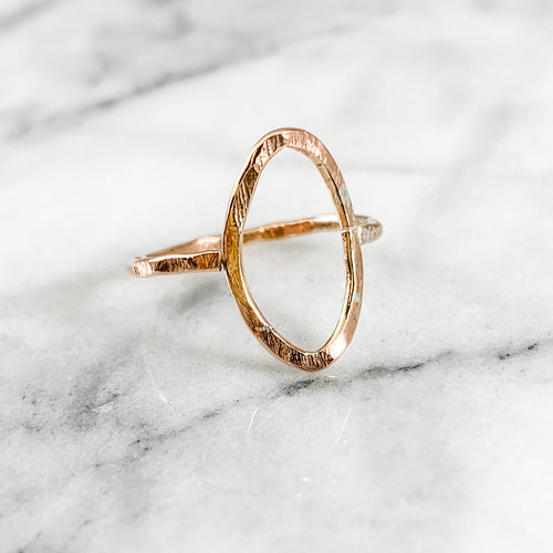 Geometric Leaf/Marquise Ring
