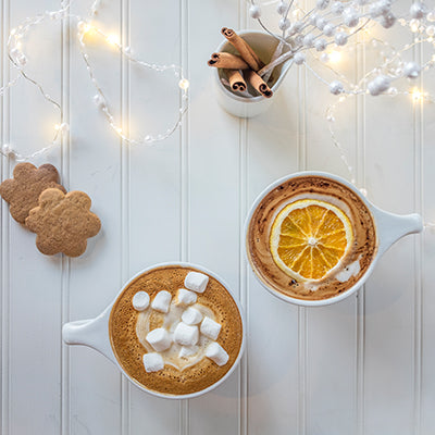 Holiday drinks now available in our cafés, for a limited time only