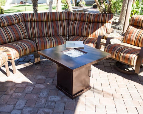 AZ Patio Heaters Fire Table AZ Patio Heaters SMALL BRONZE STEEL FIREPIT