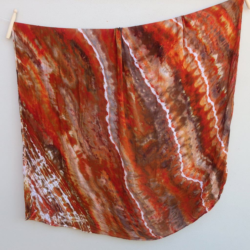 Bamboo Muslin Wraps - Red Earth