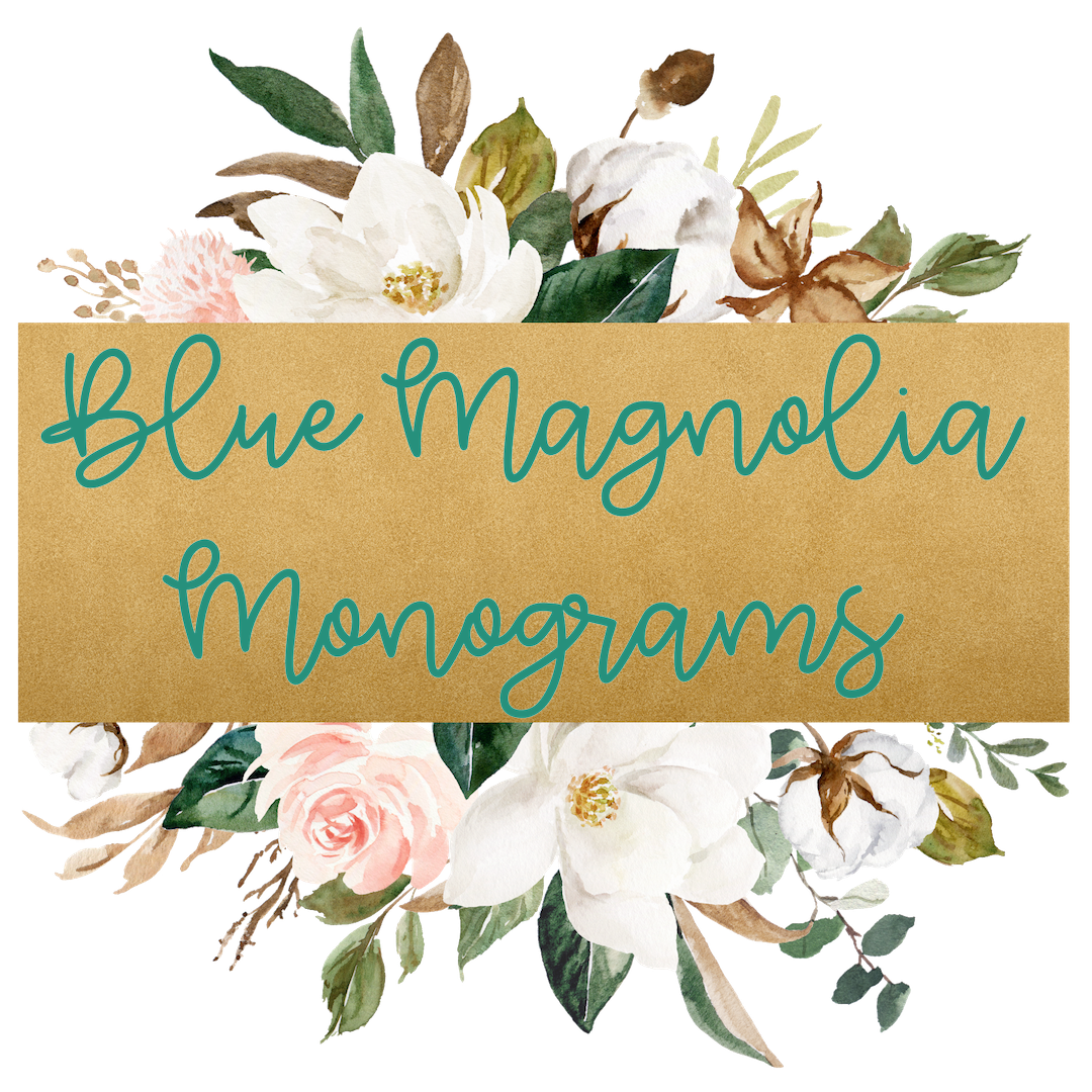 Blue Magnolia Monograms