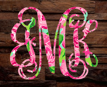 Printed Vinyl Basic Monograms