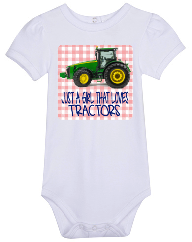 Just A Girl That Loves Tractors Bodysuit -Tractor