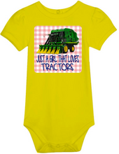 Just A Girl That Loves Tractors Bodysuit -Cotton Picker