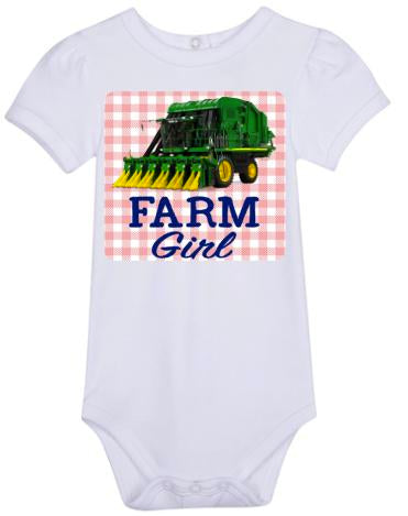 Farm Girl Bodysuit -Cotton Picker