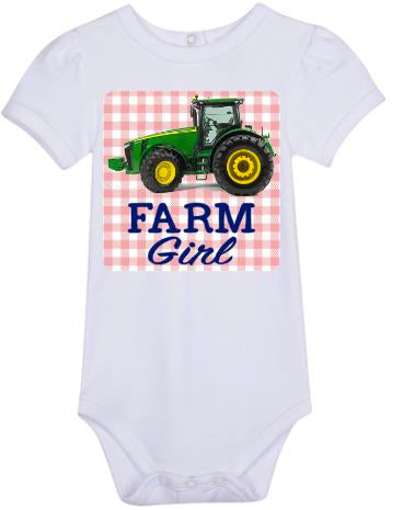 Farm Girl Bodysuit -Tractor