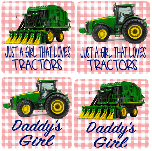 Just A Girl That Loves Tractors -Cotton Picker
