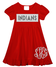 Indians Faux Smocked Ruffle Dress