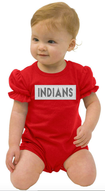 Indians Girls Faux Smock Romper