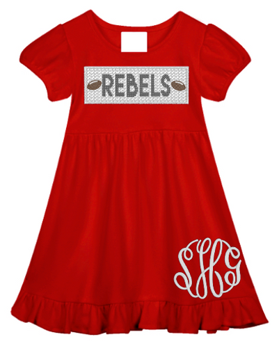Rebels Faux Smocked Ruffle Dress