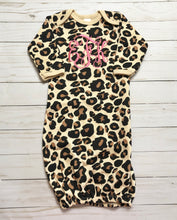 Leopard Print Baby Gown