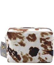 Cow Print Cosmetic Bag -Small