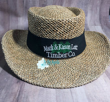 Custom Straw Gambler Hat for your brand or business