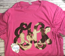 Faux Cow Hide Raggy Monogram Tee