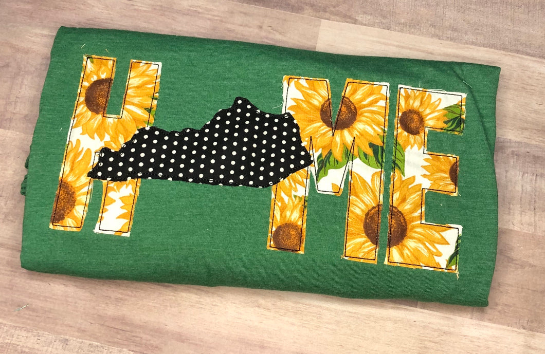 Sunflower Home Tee -Any State