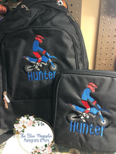 Dirt Bike Backpack and Lunchbox