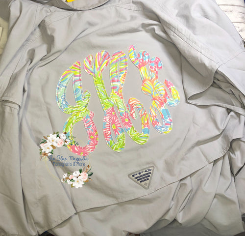 Lilly Monogram Applique Columbia PFG -Fancy Circle