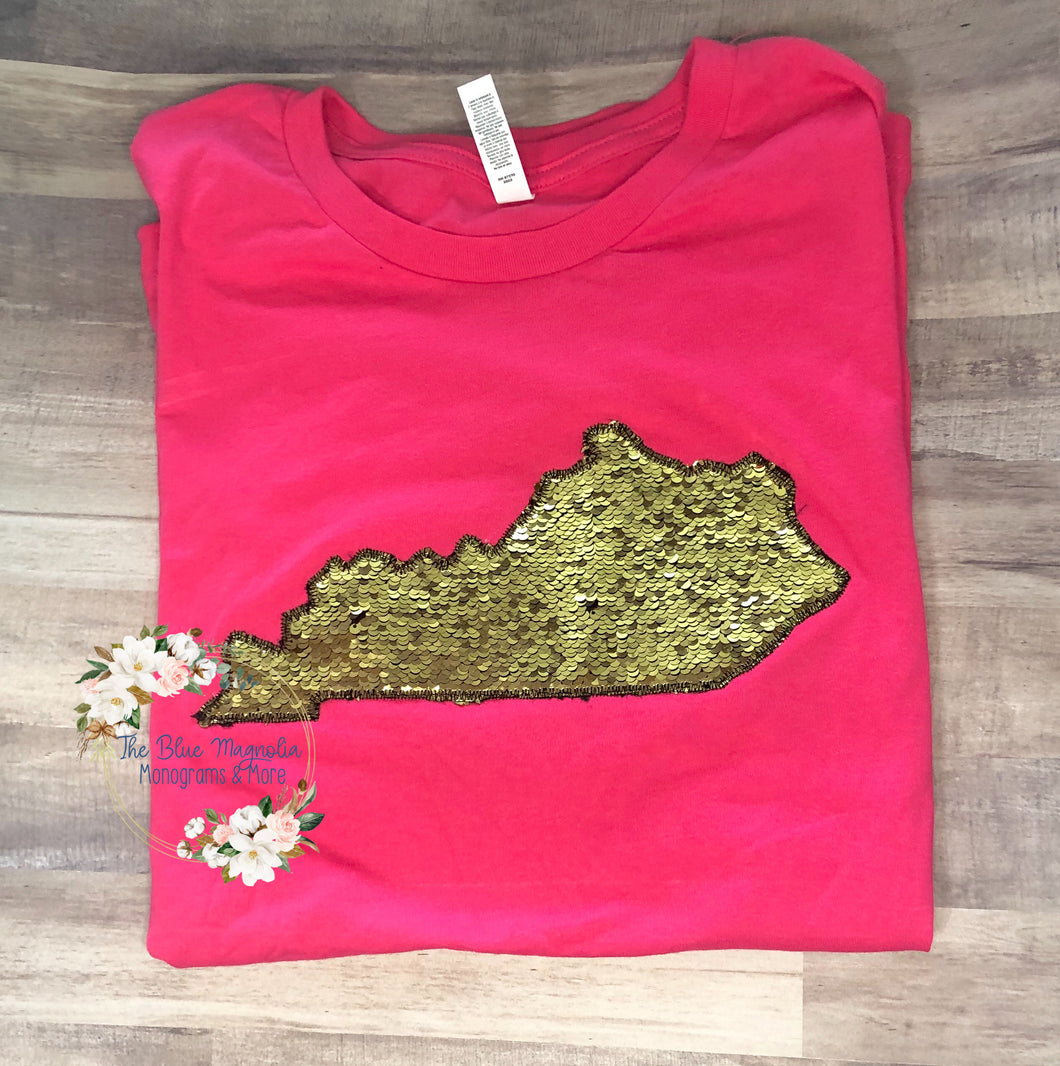 Flip Sequin State Tee-Any State