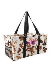 Cow Print Utility Tote -Large