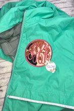 Faux Cow Hide Monogram Rain Jacket