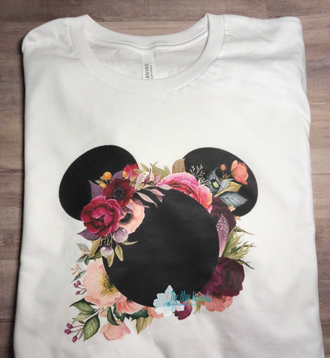 Boho Floral Mouse Tee