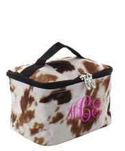 Cow Print Traincase -Small