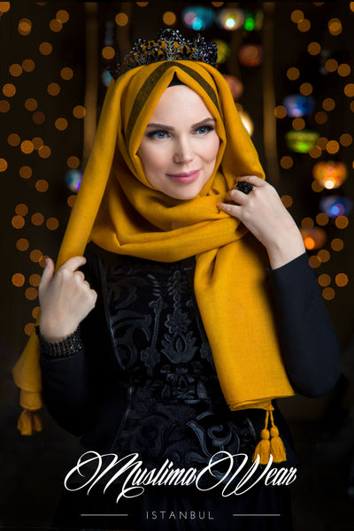 Queen Hijab Emerald Gold - Muslima Wear 1