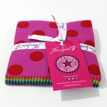 All Stars Pom Poms, Solids, & Stripes Charm Pack - Tula Pink