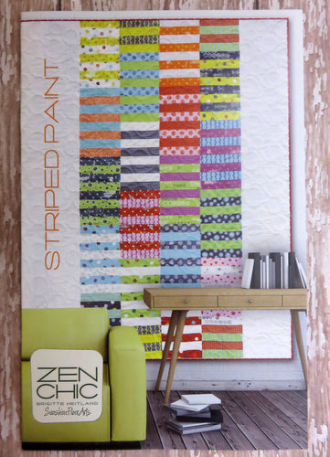 Striped Paint Quilt Pattern