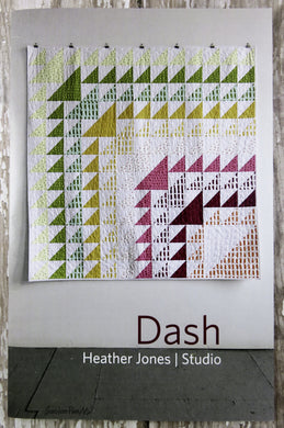 Dash Quilt Pattern - Heather Jones Studio - large and small modern quilt