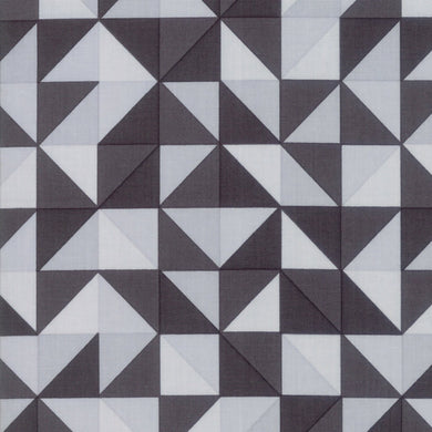 Spectrum Ombre Half Square Triangles - Grey Scale