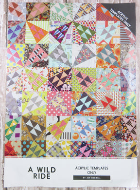 A Wild Ride Quilt Acrylic Template
