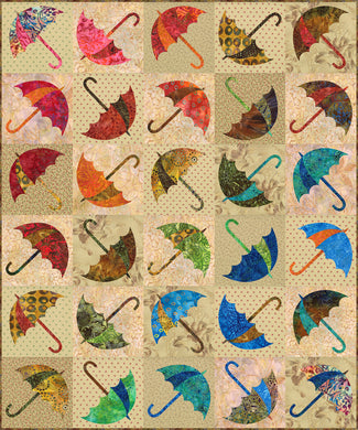 Dancing Umbrella Quilt Pattern - Edyta Sitar - Laundry Basket Quilts - LBQ-0343