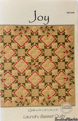 Joy Quilt Pattern - Edyta Sitar - Laundry Basket Quilts - LBQ-0396-P