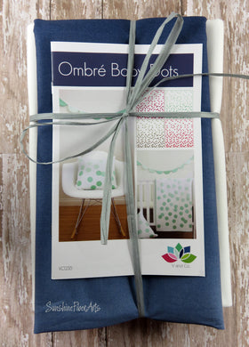 Ombre Baby Dots Quilt Kit - Indigo