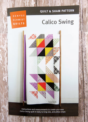 Calico Swing Quilt & Sham Pattern