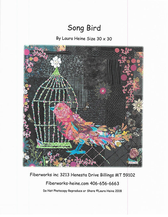 Song Bird Collage Quilt Pattern