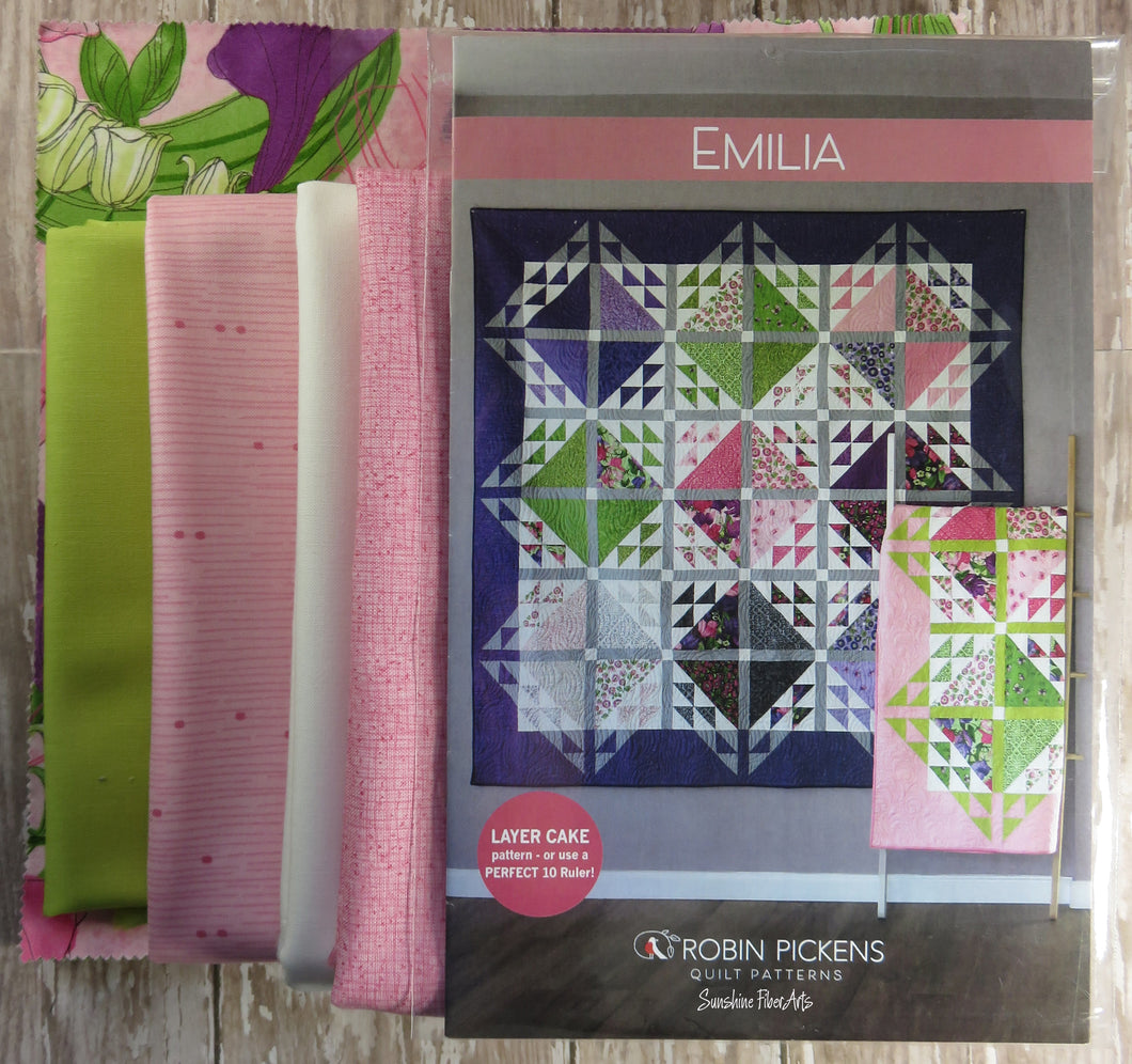 Emilia Quilt Kit - Pink Small - Sweet Pea & Lily