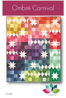 Ombre Bloom Carnival Quilt Pattern