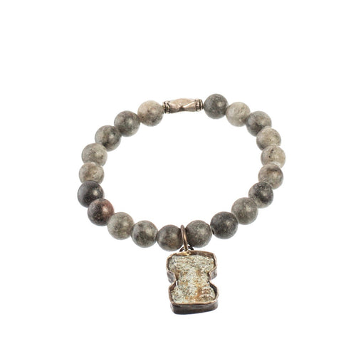 Grey Smooth Jasper Amulet Bracelet